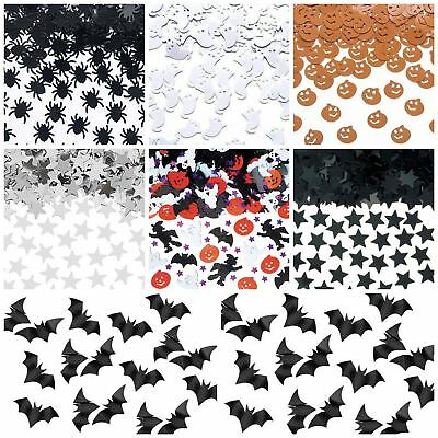 Halloween Party Table Foil Confetti Pumpkin Ghost Spider Bat Decorations Spooky