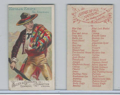 N3 Allen & Ginter, Arms of all Nations, 1887, Navaja Knife