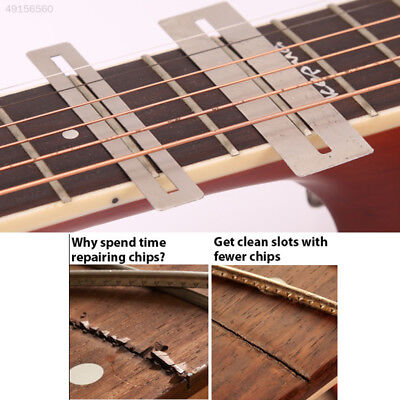 F78A 2Pcs Guitar Bass Stainless Steel Fretboard Fret Guard Protector Luthier