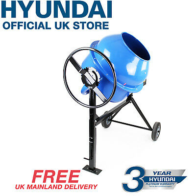 Hyundai Electric Portable Cement Mixer Large 160L 240v 650w Concrete Mixer