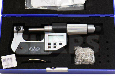 "SHARS 0-1"" Electronic Screw Thread Micrometer 60 Degree V-Anvils .00005"" NEW"