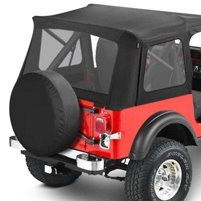 For Jeep Wrangler 88-95 Supertop Black Denim Complete Replacement Soft Top