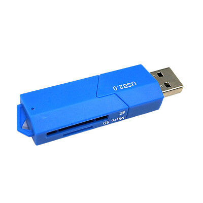 USB 2.0 SuperSpeed Compact Flash Card Reader 2Slot for SD/TF Connect to PC#1