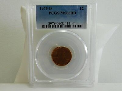 1975-D MS66RD 1C Lincoln Memorial Cent PCGS Uncirculated Certified MC1529