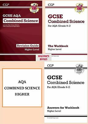 9-1 Gcse Aqa Trilogy Combined Science Higher Level 4 Books Revision Workbook