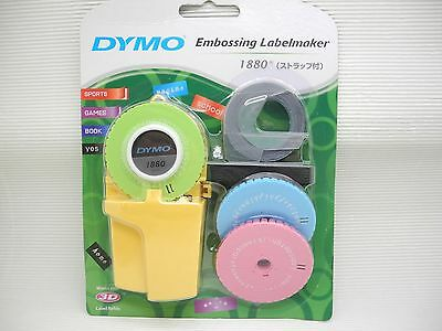 DYMO 1880 Embossing Labelmaker  3 word dishes + 1 Label Refill (Free Red Label)
