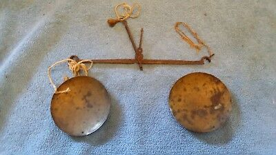 Antque Pocket Balance Scale Assay Apothecary Brass Pans 19Th Century