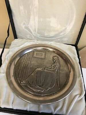 Sterling Silver George Washington Mint 1972 Mother's Day Plate 300 Gram Whistler