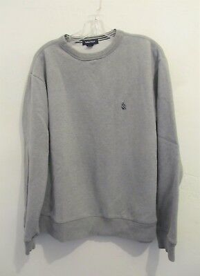 A Men's Gray Long Sleeve Vintage Crew Neck Sweatshirt By NAUTICA.M