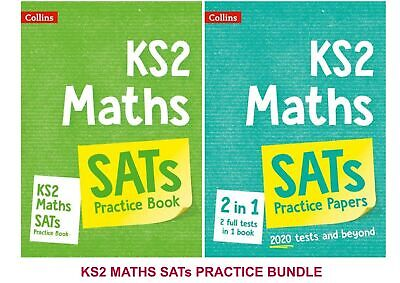 KS2 SATs MATHS 2 BOOK PRACTICE & EXAM PAPERS BUNDLE FROM 2020 EXAMS