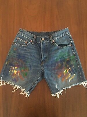 c7712aa4c6c Levi s denim wedgie fit cut off jean shorts size 27 high waist button fly