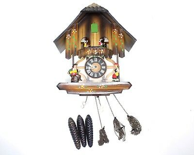 Vintage West German Wooden Regula Cuckoo Clock For Parts or Repair Only