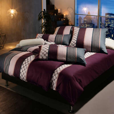 Joop Bettwäsche Cornflower Stripes 4069 11 Deep Rose 135x200cm