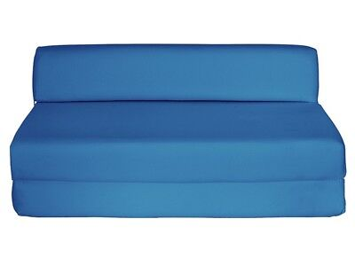 Fold Out Foam Double Guest Z Bed Chairbed Folding Mattress Sofa Sofabed Blue New