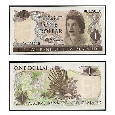 New Zealand One Dollar $1 Paper Banknote UNC #4