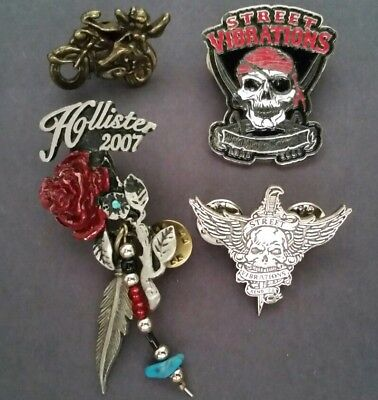 Costume jewelry/Lot of 4 Pins/Pre-owned Clean & Functional