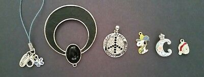 Costume jewelry/Lot of 6 Pendants/Pre-owned Clean & Functional