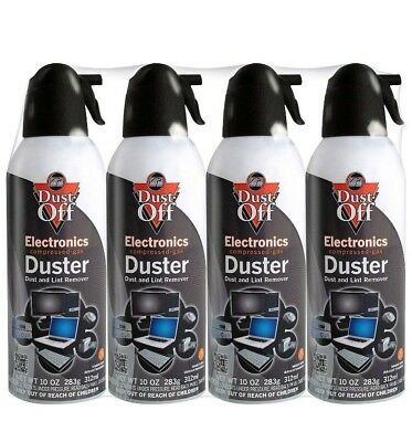 Falcon Dust-Off - Compressed Computer Gas Duster Canned Air, 10 oz  4 Pack