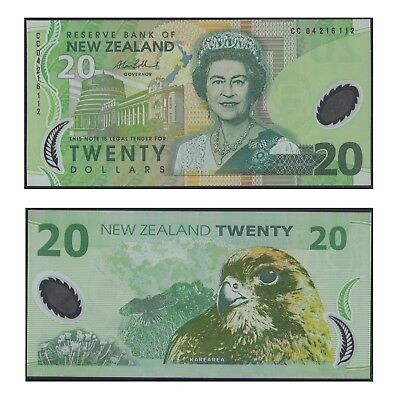 New Zealand Twenty Dollars $20 Polymer Banknote UNC #12