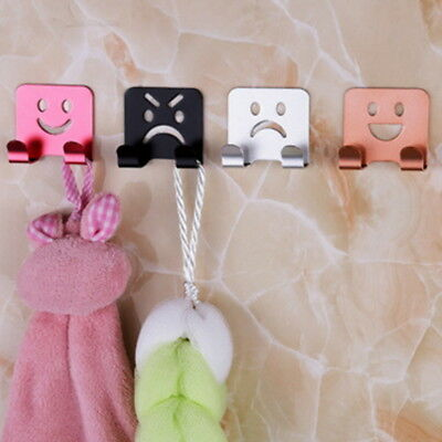 4X Cute DIY Self Adhesive Wall Hook Behind Hook Home Kitchen Bathroom Decor