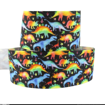 Dinosaurs Ribbon 38mm wide 1m long