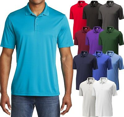 Mens Polo Shirt Performance Dri Fit Moisture Wicking XS, S, M L XL 2XL 3XL, 4XL