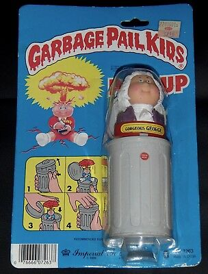 Vtg. 1986 Imperial GPK George POP-UP Figure Garbage Pail Kids 1985 Series 1 toy