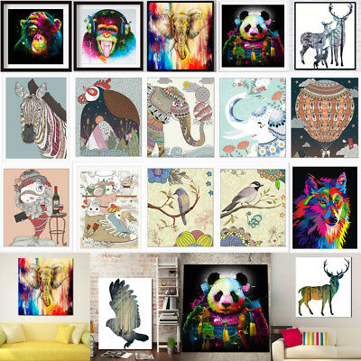 Canvas Oil Prints Modern Home Decor Animal Elephant Wall Picture Unframed Lot