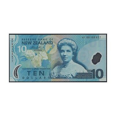 New Zealand Ten Dollars $10 Polymer Banknote UNC Regular Prefix  #33-34
