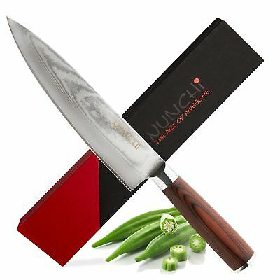 Professional Japanese 8 Inch Chef Knife with VG-10 Stainless Steel - Ultra Sharp