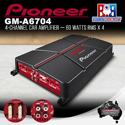 Pioneer GM-A6704 4-Channel Bridgeable Amplifier with Bass Boost 1000W