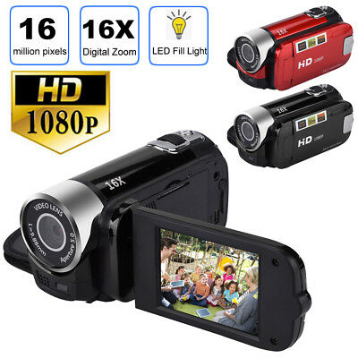 HD 1080P 2.7'' LCD Camcorder 16MP 16X Zoom Digital Video Camera CMOS Sensor US