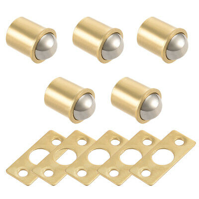 11mm Ball Dia Brass Electroplating Door Cabinet Ball Catch Latch Closures 5pcs