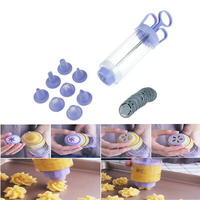 18pcs/set Cookie Biscuit Machine Cookie Presses Icing Sets Nozzles Cake ToolM&C
