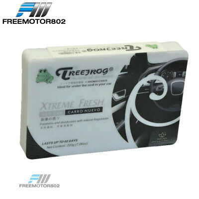 Treefrog Xtreme Fresh New Car Scent Aroma Car Auto Office Home Air Freshener Box