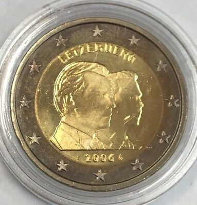Pièce 2 euros 2006 Luxembourg sous capsule