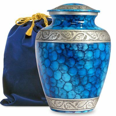 Forever Remembered Classic and Beautiful Blue Adult Cremation Urn for Human