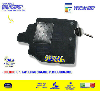 Tappetini Renault Scenic X Mod 2009>2016 tappetino 1 tappeti per guidatore grip