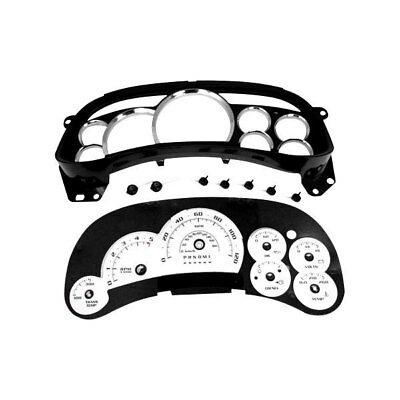 For Chevy Silverado 3500 Hd 07 13 Gauge Face Kit Black Ops Edition