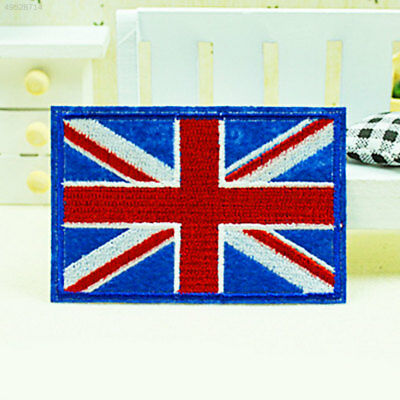 Retro Nation Flag Non-Woven Patch Embroidered National Country Sew Trim 9 x