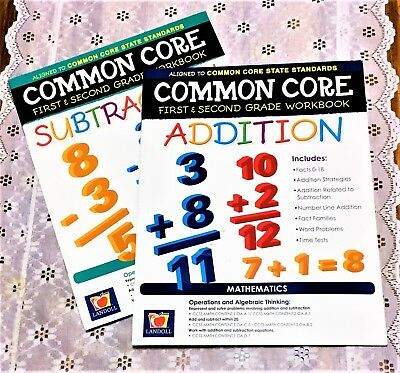 Common Core Workbook 1st And 2nd Grade Addition Subtraction Math Set