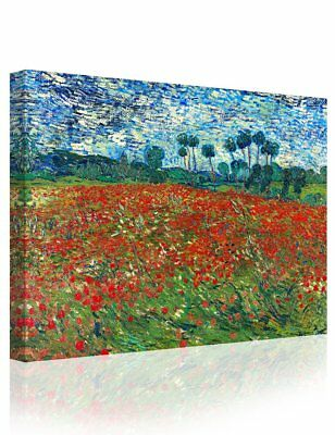 IPIC - Poppy Field Floral Vintage, Vincent Van Gogh Art Reproduction. Giclee