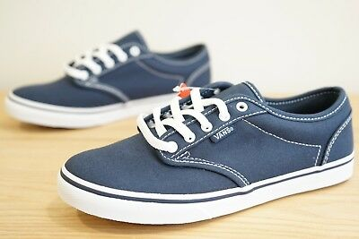 0cb103cbc06e Vans Atwood Low Womens Girls Canvas Trainers Shoes Size UK 3   EU 35 Navy (