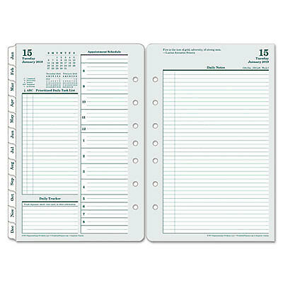 Original Dated Daily Planner Refill, January-December, 5 1/2 x 8 1/2, 2019 35419