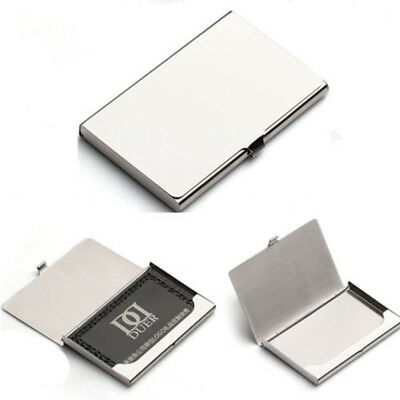 Business Name Credit ID Card Holder Box Metal Stainless Steel Pocket Box Case BL