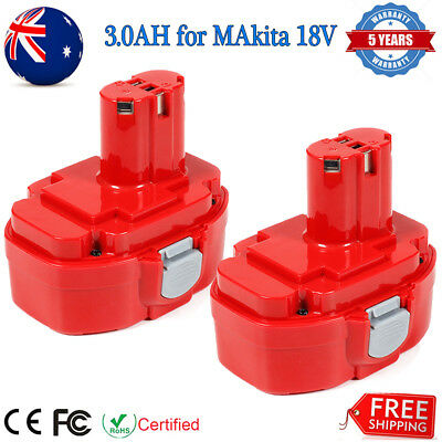 2 x 18V 3.0Ah Ni-MH For Makita PA18 1822 1823 1833 1834 1835 Replacement Battery