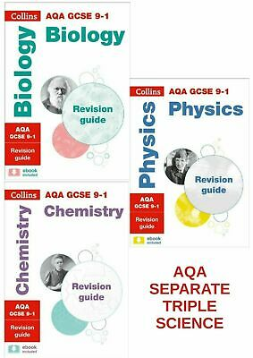 Collins Gcse Aqa 9-1 Science 3 Books Revision Guide Physics Chemistry Biology