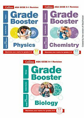 Collins Gcse Aqa 9-1 **Grade Booster** Bundle Physics Chemistry Biology Revision