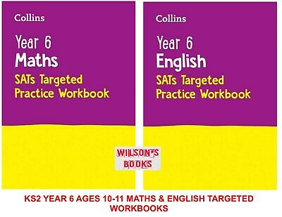 NEW KS2 YEAR 6 SATs TARGETED PRACTICE ENGLISH & MATHS 2 BOOK BUNDLE FROM 2020