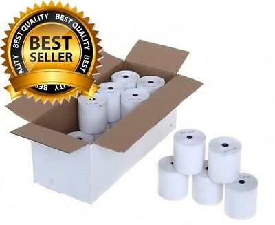 UK SELLER - 20 White 57x40mm PDQ Till Rolls - Ingenico iWL250